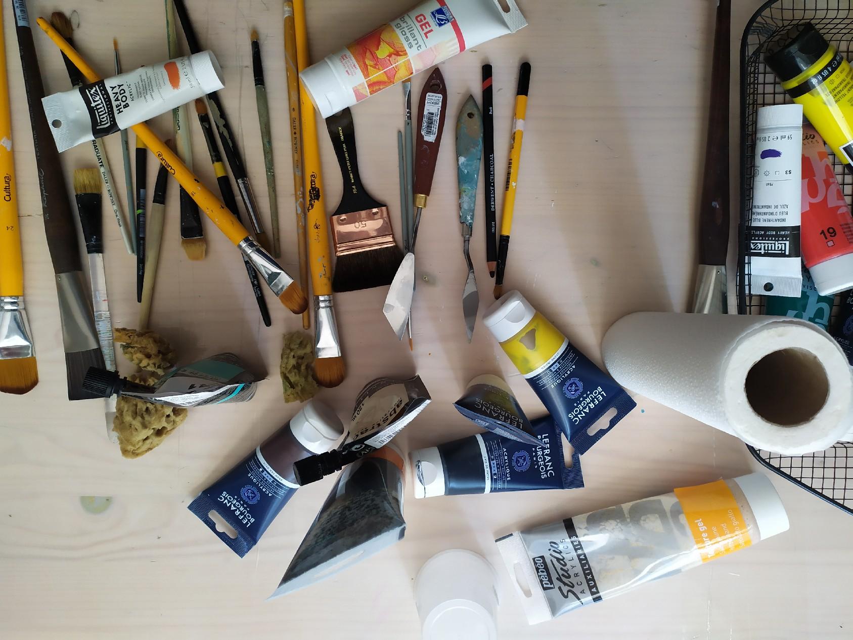La vie de mon atelier - Cob Artiste Peintre - Peinture abstraite et imaginaire