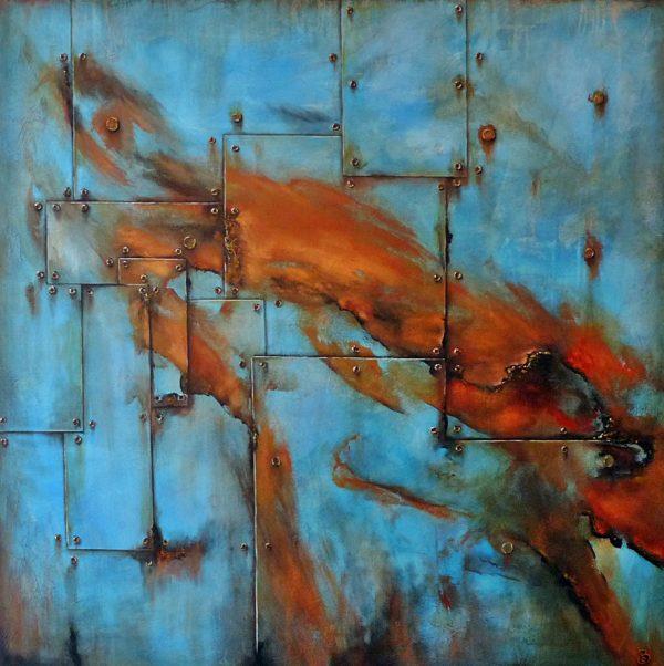 Cargo peinture abstraite Cob Artiste Peintre