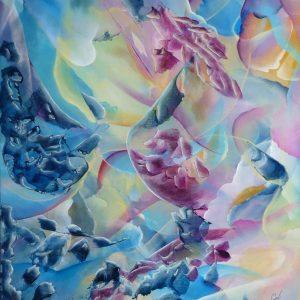 Fluide peinture abstraite Cob Artiste Peintre