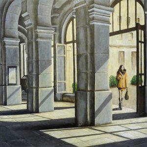 Hall peinture abstraite Cob Artiste Peintre