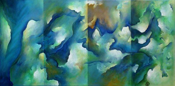 Iroise peinture abstraite Cob Artiste Peintre