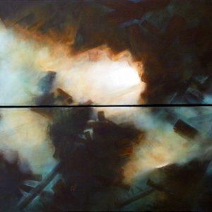 Numéro II peinture abstraite Cob Artiste Peintre