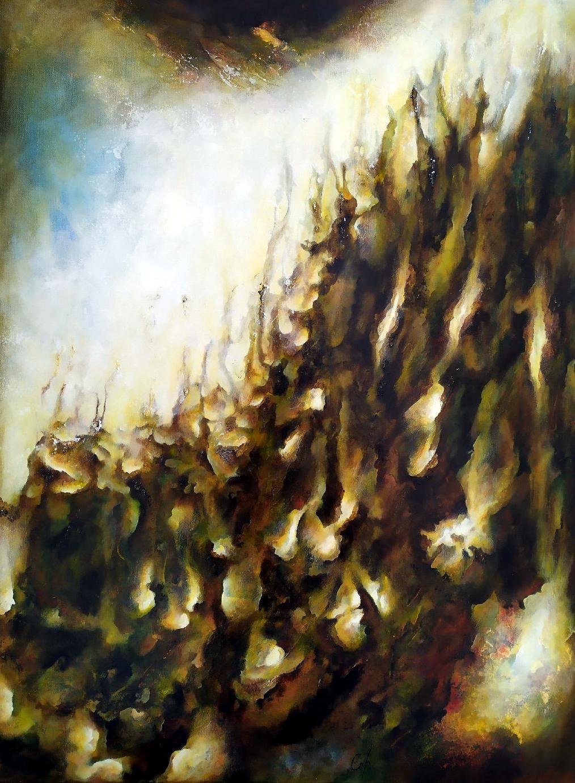Numéro V peinture abstraite Cob Artiste Peintre