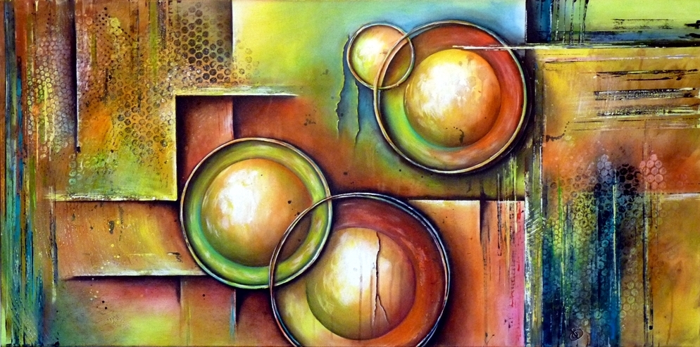Relic peinture abstraite Cob Artiste Peintre
