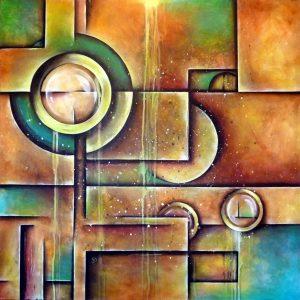 Structure peinture abstraite Cob Artiste Peintre
